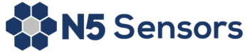 N5 Sensors' logo, six hexagons in a circle surrounding another hexagon